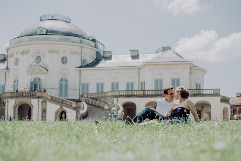 Verlobungsshooting am Schloss Solitude in Stuttgart